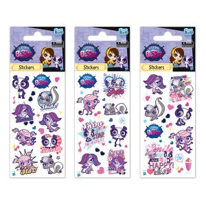 STICKERS LITTLEST PET SHOP 7X18 GLITTER