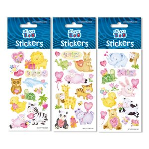 STICKERS ZΩAKIA 7X18 GLITTER