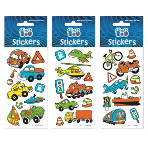 STICKERS CARS 7X18 GLITTER