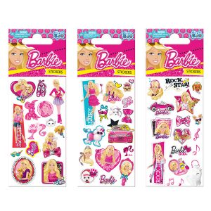 STICKERS BARBIE NO2 7X18 GLITTER