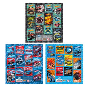 STICKERS HOT WHEELS 16X16