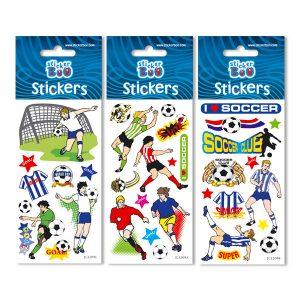 STICKERS ΠΟΔΟΣΦΑΙΡΟ 7Χ18 GLITTER